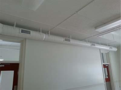 Exposed Ductwork in Commercial building